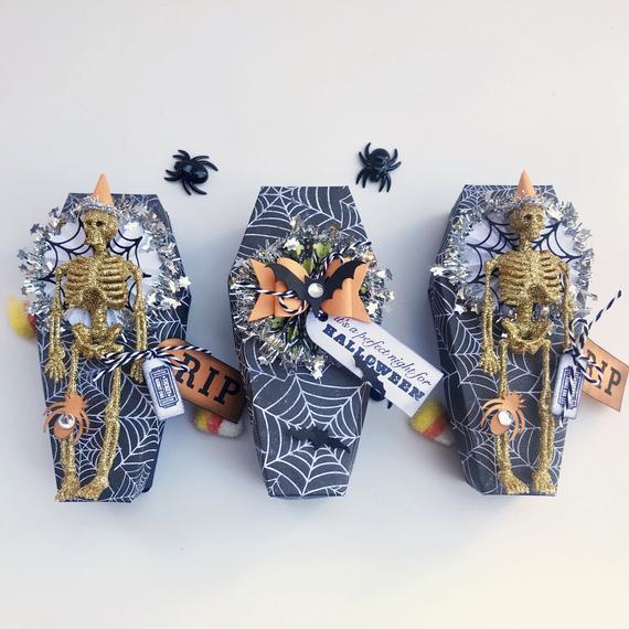 Halloween Coffin Favor Boxes