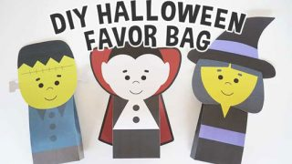 Crafty Halloween Monster favor Bags