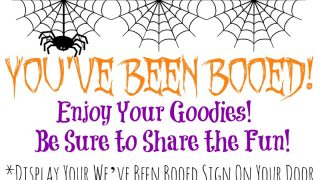 Free Halloween Booing Printables!