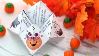 Halloween Cootie Catcher with Jokes for Kids