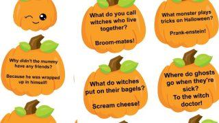 Free Halloween Lunch Box Jokes Printables