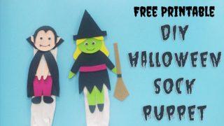 DIY Halloween Puppet Template