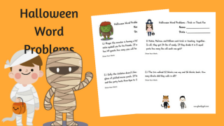 Free Math Printables : Halloween Word Problems