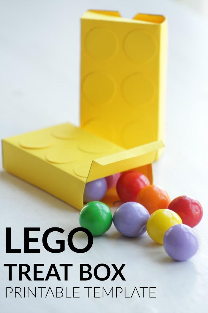 LEGO Treat Boxes Printable Template