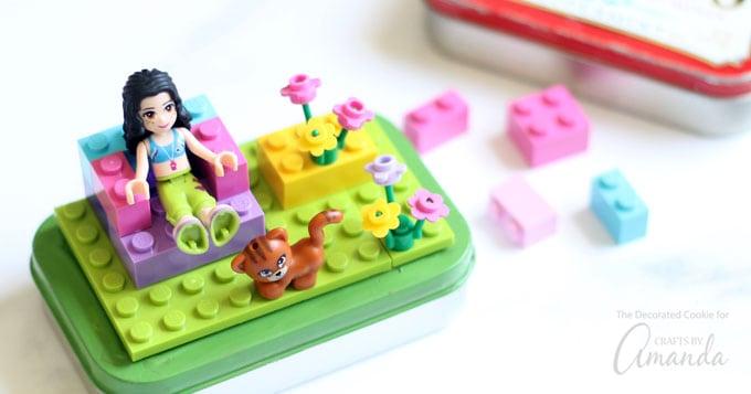 DIY Lego Altoid Tin Favors