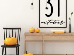 Free Printable Halloween October 31 Sign