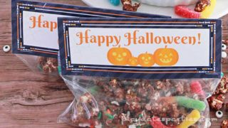 Halloween Monster Munch Goodie Bags with Printable Toppers