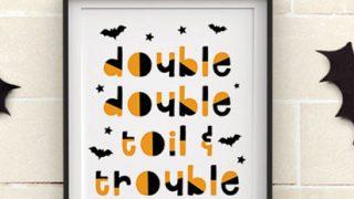 Modern printable Halloween Art