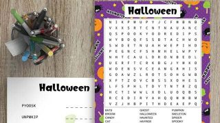 Free Printable Halloween Word Search & Word Scramble