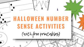 Halloween Number Sense Activities for Kids