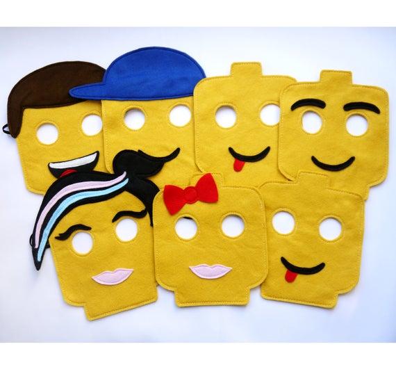 Lego Head Felt Party Masks