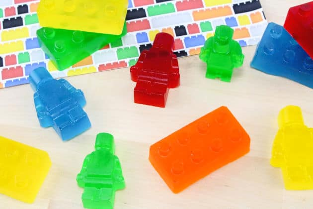 Jello Jigglers Lego Bricks and Minifigures