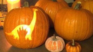 The Good Dinosaur Pumpkin Carving Stencil