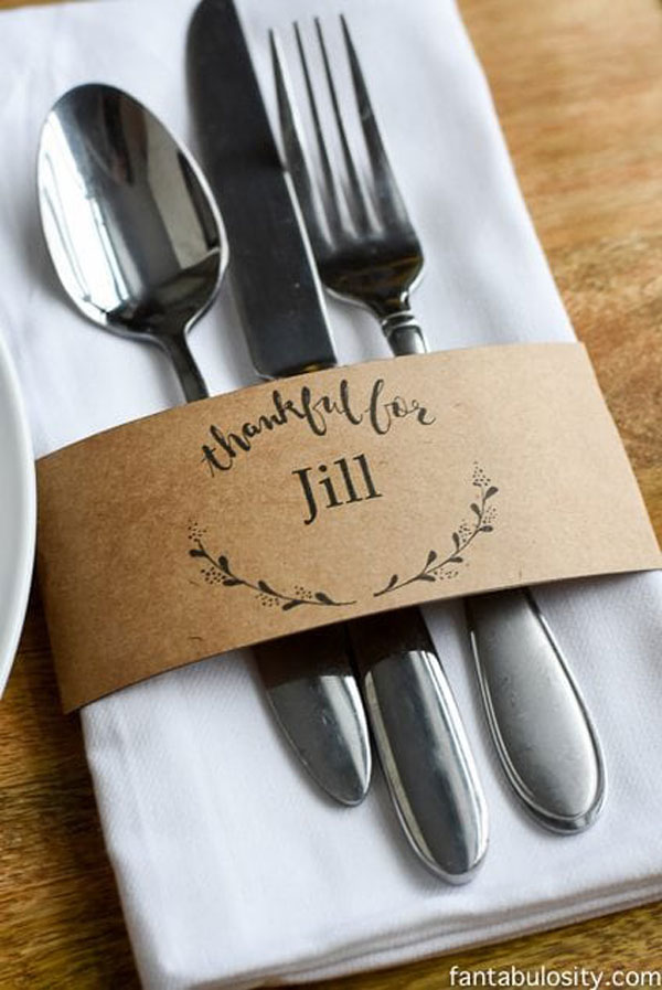Simple & Stunning Place Card Template