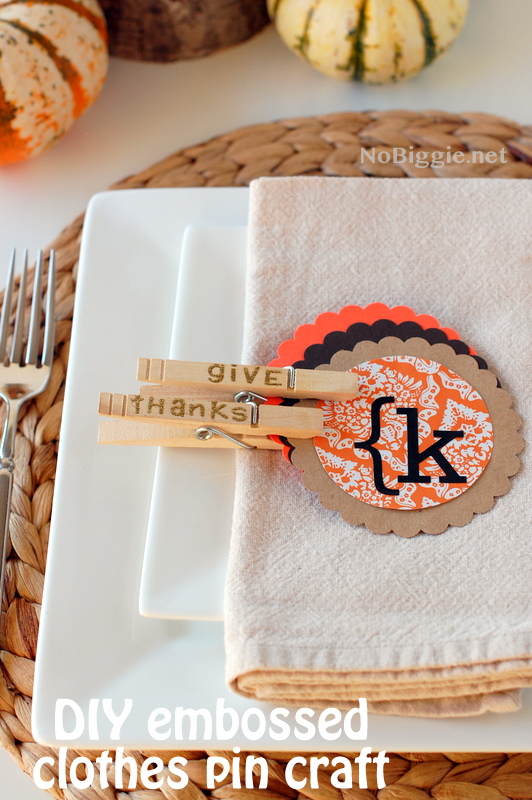 Minimal Place Settings with DIY Thanksgiving Place Cards
