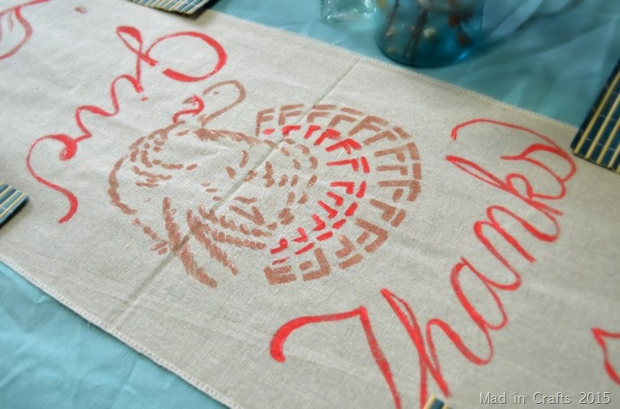 Hand-Painted Thanksgiving Table Runner