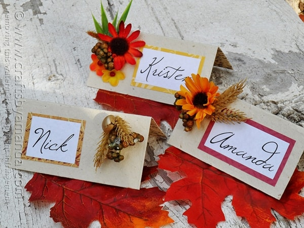 Crafty Thanksgiving Place Cards