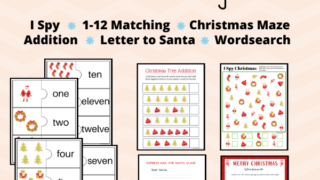Free Christmas Activity Pack Printable for Kids