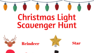 Christmas Light Scavenger Hunt with Images