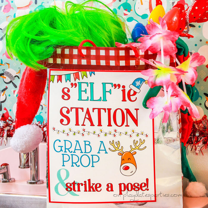 "Christmas photo booth ""Elf""ie station"