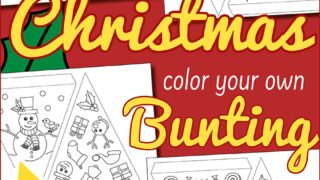 Colour Your Own Christmas Bunting activity for kids