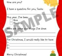 Adorable Free Printable Letter to Santa Template