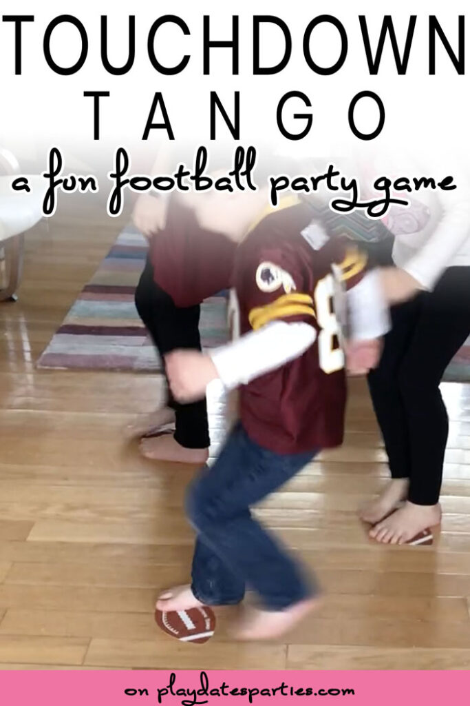 kids playing football themed party game touchdown tango