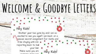 Elf on the Shelf Welcome and Goodbye Letters