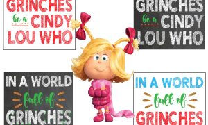 Printable Grinch Quote Signs