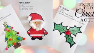Easy Printable Christmas Activity for Young Toddlers