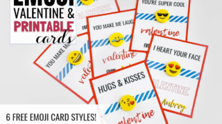 Free Printable Emoji Valentines Cards