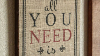 Pottery Barn Inspired Burlap Print for Valentine's Day