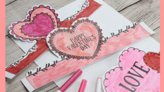 Valentine's Day Headbands- Fun Printable Crowns