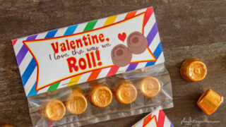 I Love the Way We Roll Valentine Bag Toppers