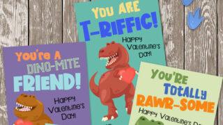 Printable Dinosaur Valentines (plus DIY Dinosaur Valentine Box)