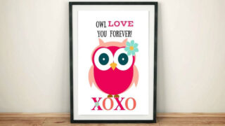 Valentines Day Owl Printable