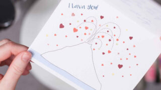 "Free Printable Valentine Cards: ""I Lava You"""
