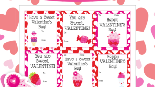 Sweet Valentines Day Card Printables