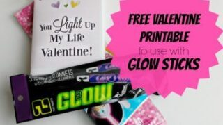 "Glow Sticks Free Printable Valentine Cards: ""You Light Up My Life Valentine"""
