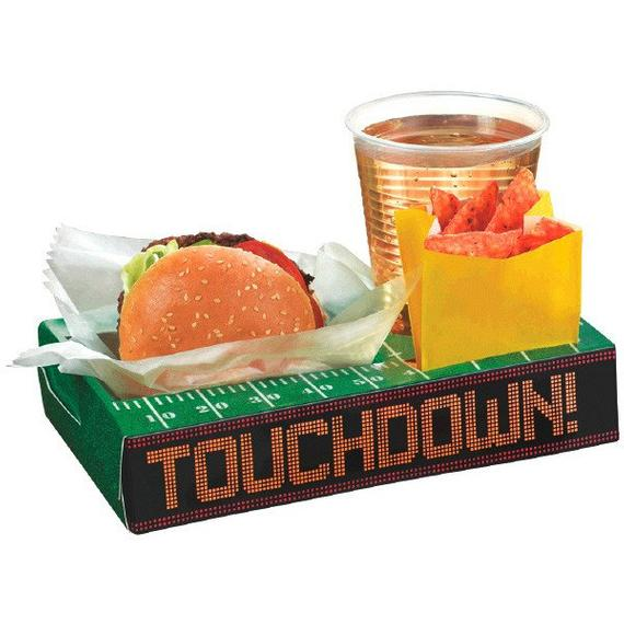 Sectioned Football Themed Snack Boxes