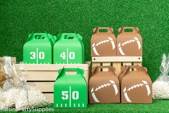 Football themed party gable boxes