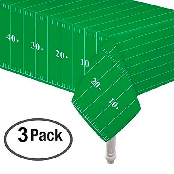 Green & White Football Field Table Cover