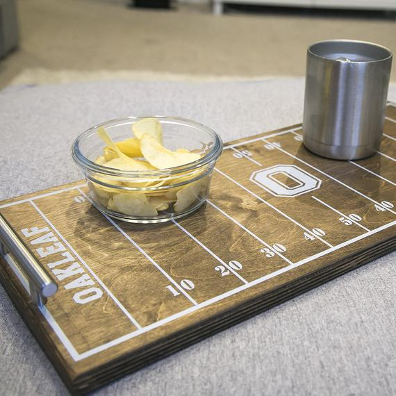 Personalized Football Field Serving Tray