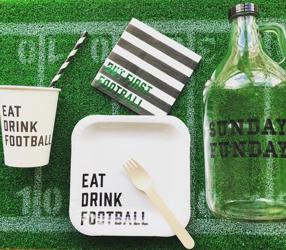 Football Party Tableware Kit for 8