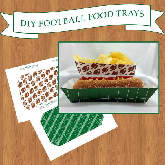 DIY Printable Football Themed Food Trays