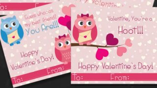 Free Owl Printable Valentines Day Cards