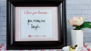 Happy Valentine's Day Printable Decorations Sign