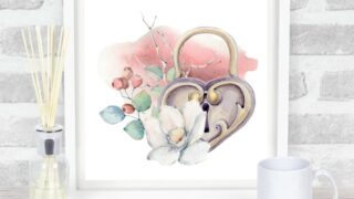 Valentine Watercolor Wall Art