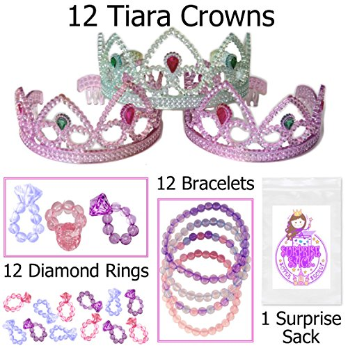 12 pack of Princess Tiaras, Rings, Bracelets & More
