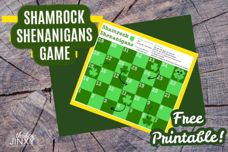 Free Printable Shamrock Shenanigans Game